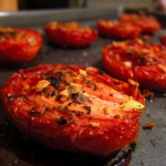 recipe: oven roasted garlic tomatoes