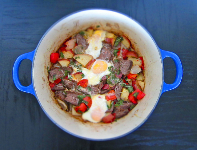 recipe: Steak & Cilantro Breakfast Hash